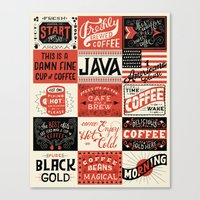 coffee Canvas Prints featuring Coffee by Mary Kate McDevitt