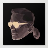 karl Canvas Prints featuring KARL by Lennert Robberechts