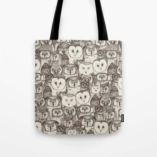 just owls natural Tote Bag