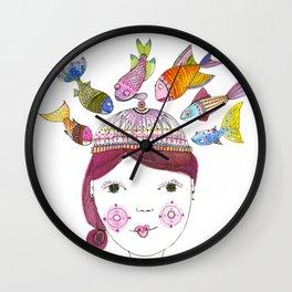 Fishy Business Wall Clock