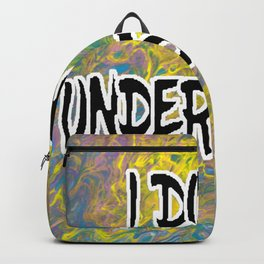I DON'T UNDERSTAND! Abstract with Black Filled Letters Backpack
