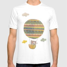 Bear in the air Mens Fitted Tee White SMALL