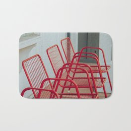 Red Chairs Bath Mat