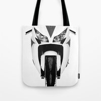honda Tote Bags featuring Honda Motorcycle by SABIRO DESIGN