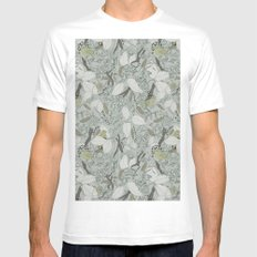 Bird Song Mens Fitted Tee White MEDIUM