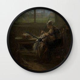 'The Joy of Motherhood', Jozef Israëls, 1890 Wall Clock