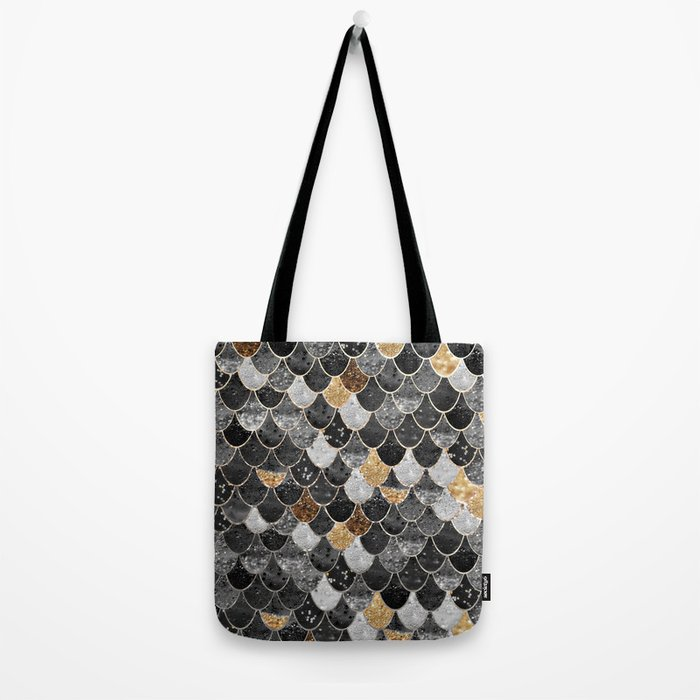 REALLY MERMAID BLACK GOLD Tote Bag