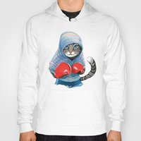 jazzberry Hoodies featuring Boxing Cat by Tummeow