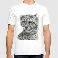 Young Guepard g094 MEDIUM White Mens Fitted Tee