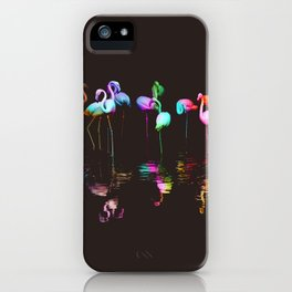 Rainbow Flamingos iPhone Case