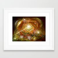 novelty Framed Art Prints featuring Coalescence of Novelty by Psybe Visual