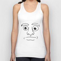 plain Tank Tops featuring plain face by JESUS MOSES