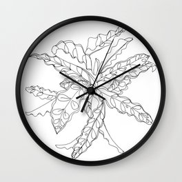 PLANT PORTRAITS - CALATHEA LANCIFOLIA - COOPER  AND COLLEEN Wall Clock