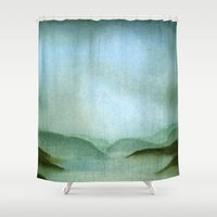 silent Shower Curtains featuring Simple, Silent by Jess Bronk