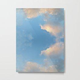 Cloud mirror Metal Print
