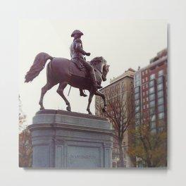 Washington in Boston Common Metal Print