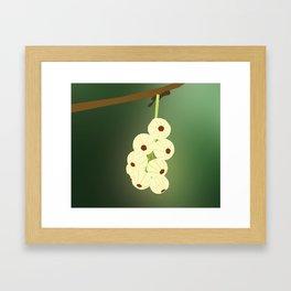 Green Blooming Gooseberries Framed Art Print