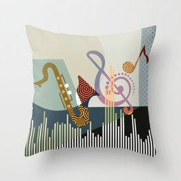 Rhythm I Throw Pillow
