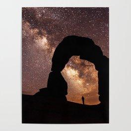 Milky Way Stargazing under a Desert Arch Poster