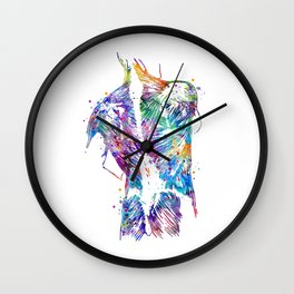 Human Back Art With All Muscles Colorful Watercolor Art Gift Physiologist Gift Anatomy Art Wall Clock