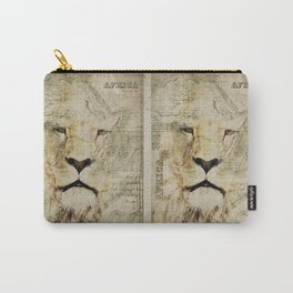 Lion Vintage Africa old Map illustration Carry-All Pouch