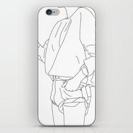 Fashion illustration line drawing - Cal iPhone Skin