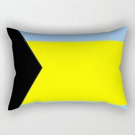 flag of Bahamas 2– Nassau,Bahamian,Bahamianese,Junkanoo,Regattas Rectangular Pillow