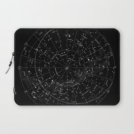 Constellation Map - Black & White Laptop Sleeve