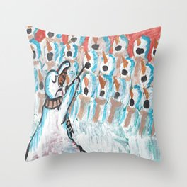 Christmas #1 Snow Choir Throw Pillow