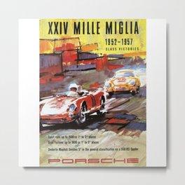Mille Miglia, Race Poster, Vintage Poster, car poster Metal Print
