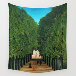 Henri Rousseau - Avenue in the Park at Saint Cloud Wall Tapestry