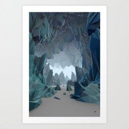 The Ice Cavern Art Print