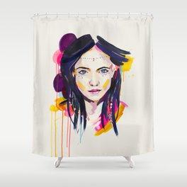 Cactus Flower - by Jen Sievers Shower Curtain