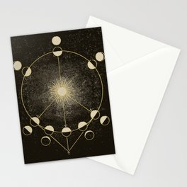 Vintage Astronomy Map Stationery Cards