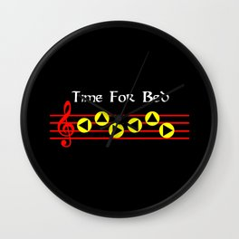 Time For Bed - Zeldas Lullaby (The Legend Of Zelda: Ocarina Of Time) Wall Clock