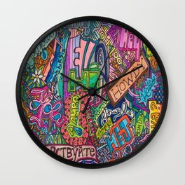 Hello - Greetings in many languages Wall Clock