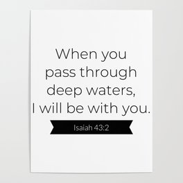 I Will Be With You - Christian Typography Poster
