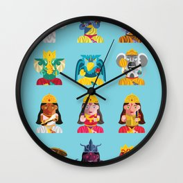 Indian Box Dolls Wall Clock