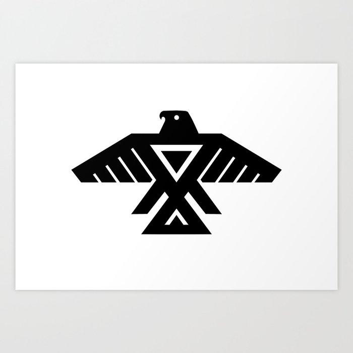 Native American Thunderbird Symbol Flag Art Print By