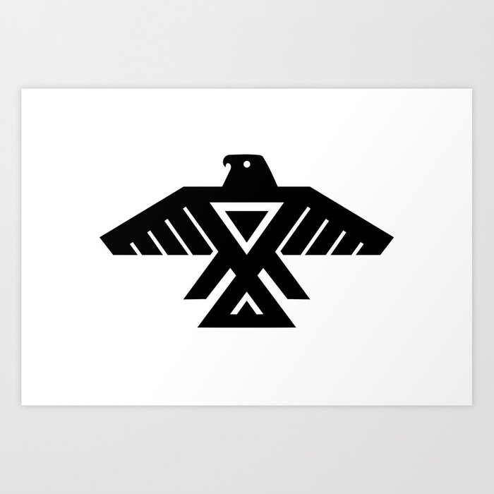 Native American Thunderbird Symbol Flag Art Print By