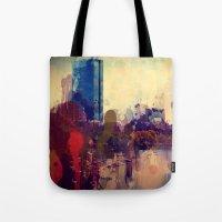 boston Tote Bags featuring Boston  by Danielle DePalma