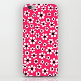 Dizzy Daisies - pink punch iPhone Skin