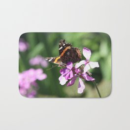 Butterfly and Phlox Bath Mat