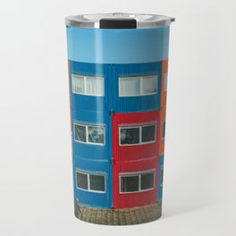 Colorful Container house Amsterdam Travel Mug