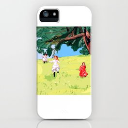 The little house on the prairie with Ingalls sisters iPhone Case