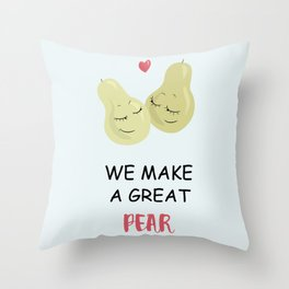Great pear Throw Pillow