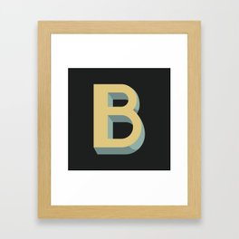 Type Seeker - B Framed Art Print