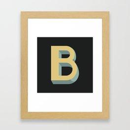 Type Seeker - B Framed Art Print