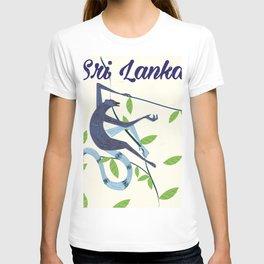 Sri Lanka Vintage style travel poster T-shirt