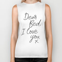 PRINTABLE Art,Dear Bed I Love You,Bedroom Decor,Quote Print,Inspirational,Bedroom Wall Art Biker Tank